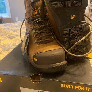 """NIB P89940 9.5 wide work boots 6"""" Caterpillar mens"""